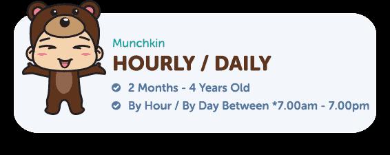 hourly Munchkin Childcare Centre